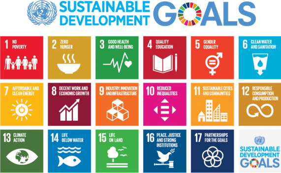 A colour image detailing the United Nation's Sustainable Development Goals